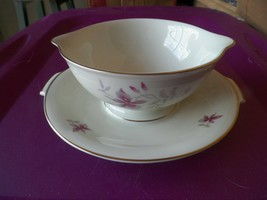 Rosenthal  gravy boat w/underplate (Orchid) 1 available - $34.60