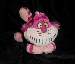 "7 "" Disney Alice En Merveilles Cheshire Rose Kitty Chat Animal Peluche Jouet - $18.50"