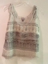 Converse One Star Ladies Tank Top Tied Straps Gray White Lined Size M Me... - $7.95