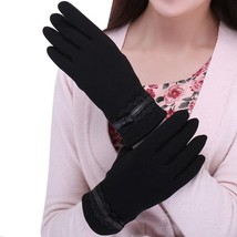 Women Gloves Winter Spring Solid Lace Cotton Wrist Length fashion Mittens New  - $5.50