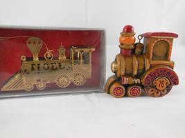 Vintage Hallmark 1976 and Gold plated brass Kurt Adler train Christmas o... - $13.85