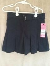 George Girl's Dark Navy Belted Pleated School Uniform Skort Size 6X - $6.00
