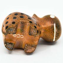Crafts Caravan Soapstone Orange Black Hippopotamus Hippo Figurine Made Kenya image 5