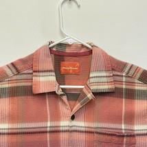 Tommy Bahama Men's Silk Shirt Orange Black Striped Small - $32.64
