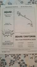 Sears Craftsman Gas Weedwacker Operators Manual Model No. 358.799240-32cc - $7.91