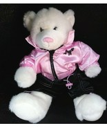 Build A Bear White Bear W/ Pink pawfectly Top &  Shorts Outfit Plush - $39.99