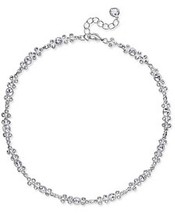 CHARTER CLUB SILVER TONE CRYSTAL COLLAR NECKLACE NWT - $23.26