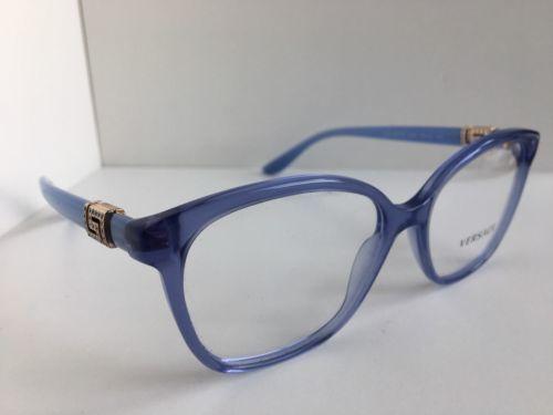 04c704cf395 ... New Elegant Versace Mod. 3235-B 5225 Blue 54mm Eyeglasses Italy ...