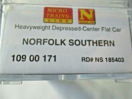 Micro-Trains # 10900171 Norfolk Southern Heayweight Depressed-Center Flat Car N image 6