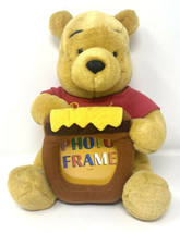 Disney Store Winnie The Pooh Plush Stuff Animal With Honey Pot Picture F... - $14.01