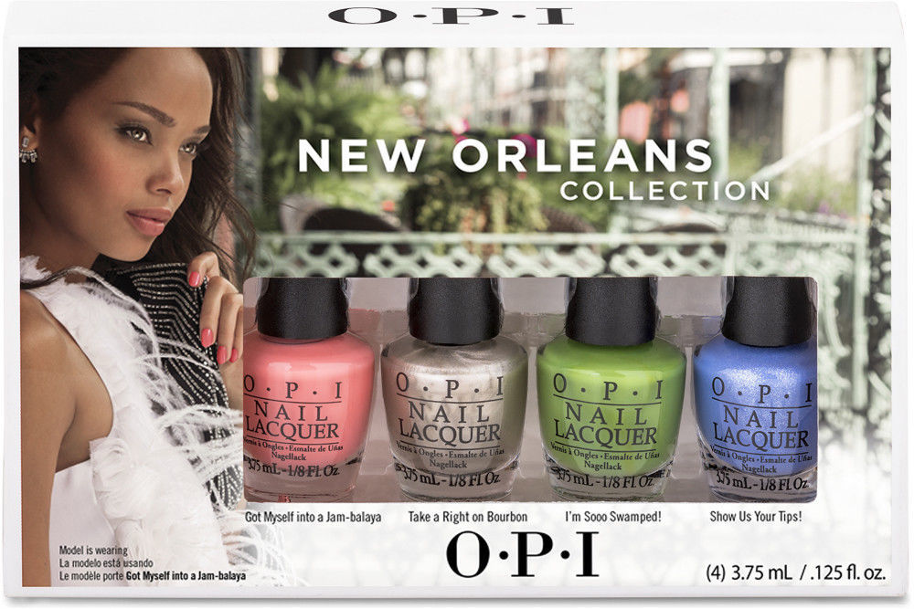 OPI Nail Polish Lacquer New Orleans Jambalayettes 4 colors Set Mini Collection