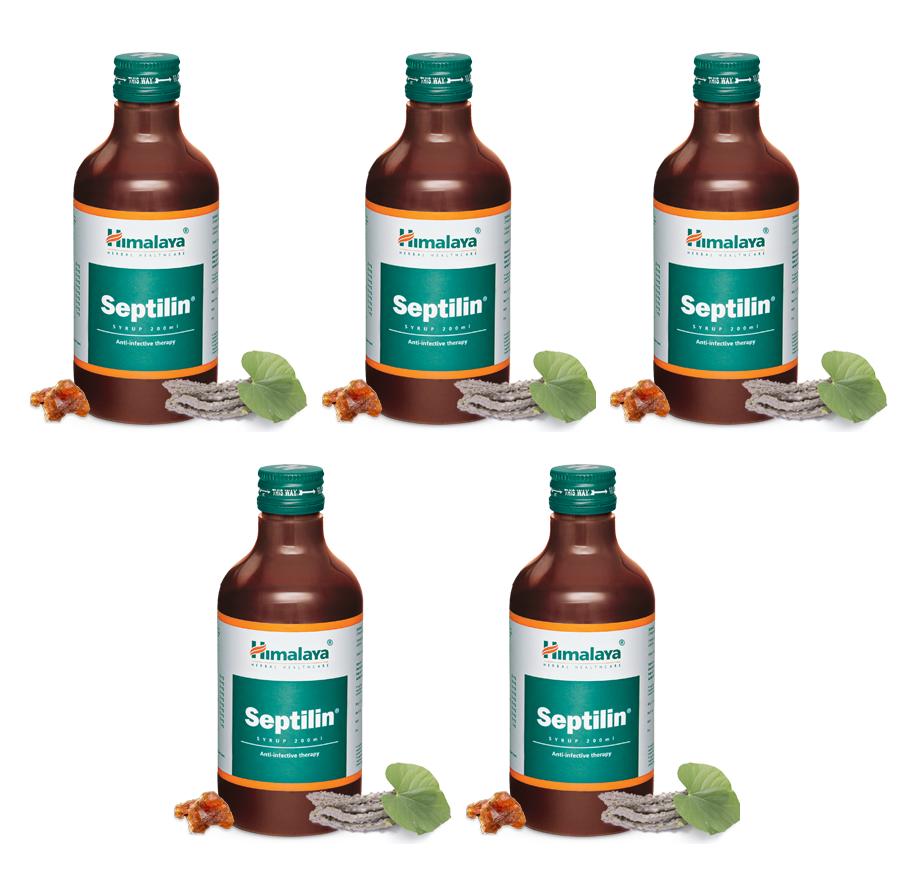 Himalaya Herbal Septilin Syrup - Immunity Booster- 200ml X 5 Packs - $89.00