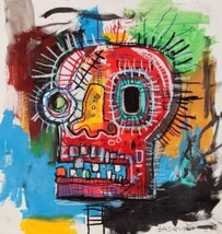 "JM Basquiat style ""Untitled"" HD print on canvas, huge wall picture 12x12"" - $17.81"