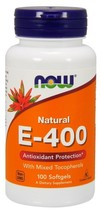 Vitamin E-400 With Mixed Tocopherols Now Foods 100 Softgel - dietary supplements - $14.40