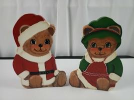 Christmas Figures Custom. Mr & Mrs Santa Bear - $18.49