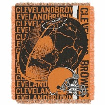 NEW! Cleveland Browns Woven Jacquard Tapestry Throw Blanket Spread - $32.99