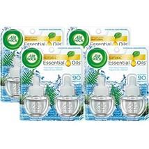 Air Wick Scented Oil 8 Refills, Fresh Waters, 4X2x0.67oz, Air Freshener