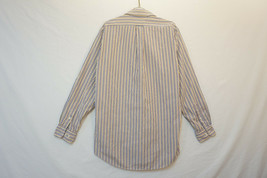 Sears & Roebuck Heavy Pinstriped Button-Front Shirt, Men's Large 9485 - $10.63