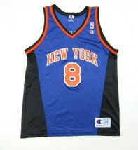 Vintage CHAMPION Latrell Sprewell New York Knicks Jersey 90s 2000s Blue ... - $69.25