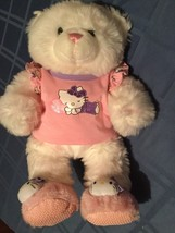 Build A Bear Hello Kitty 19 inch white&pink plush stuffed outfit Valenti... - $73.99