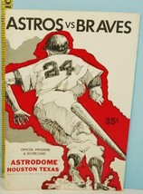 1970 Houston Astros Baseball Program Scorecard Unscored vs San Francisco... - $14.80