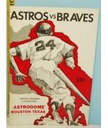 1970 Houston Astros Baseball Program Scorecard Unscored vs San Francisco... - $14.80