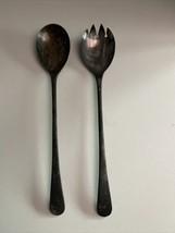 Vintage Silver-plated Serving Spoon & Fork Set - EPNS Sheffield England  - $19.80