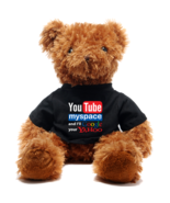 Cute Brown Teddy Bear doll gift for youtuber and social media enthusiast  - $39.99
