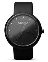 Nooka Unisex Black Night 360 Degree Rotating Case Quality Luxury Wrist Watch NIB image 1