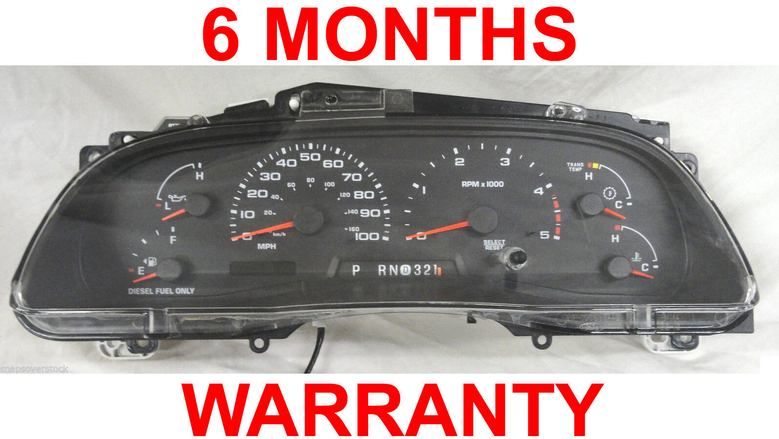 Primary image for 2003 FORD SUPER DUTY F250,F350 & EXCURSION, 6.0L DIESEL AUTO INSTRUMENT CLUSTER
