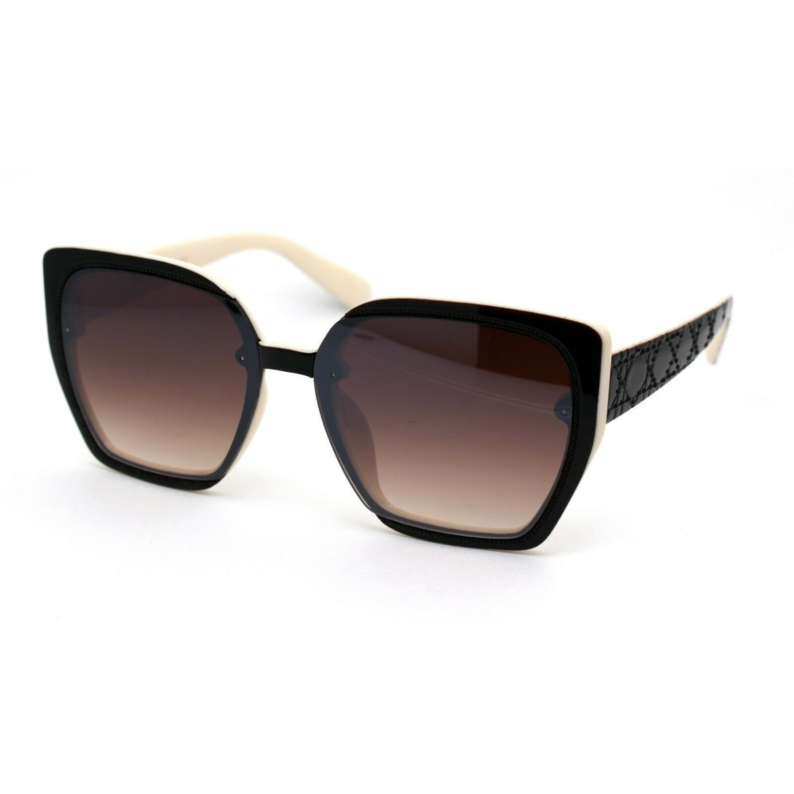 Womens 90s Designer Fashion Squared Butterfly Sunglasses
