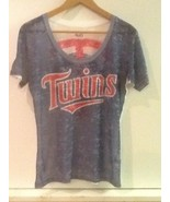 touch by ALYSSA MILANO Minnesota Twins Womens Burnout Top Shirt S Small - $18.95