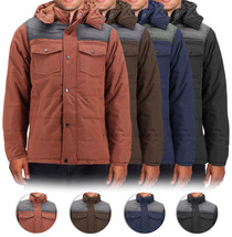Men's Heavyweight Water And Wind Resistant Removable Hood Insulated Jacket image 1