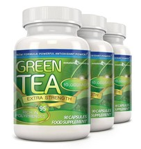 Green Tea Extra Strength 10,000mg with 95% Polyphenols 270 Capsules (3 M... - $25.99