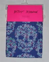 Betsey Johnson Colorful Floral Royal/Cobalt Blue SKULL CANDY Shower Curt... - $42.21 CAD