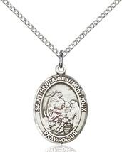 Sterling Silver St. Bernard of Montjoux Pendant 3/4 x 1/2 18 inch Chain - $51.00