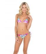 NWT LULI FAMA M Pequeno Paraiso side tie bikini swimsuit bottom only skimpy - $56.25
