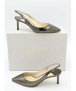 NIB JIMMY CHOO Erin Metallic Leather Slingback Pumps Heels New 7 37  $675 - $325.00