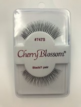 CHERRY BLOSSOM EYELASHES MODEL# 747S  BLACK 1 PAIR PER EACH PK - $1.87+