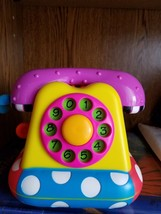 Sassy Talk to Me 3 languages phone Toy Educational Interactive Telephone - $14.98