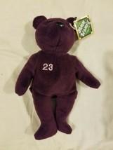 Salvinos Bamm Beanos Beanie Baby Plush Purple David Justice Indians Braves w/tag - $14.69