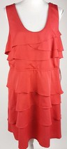 Apt. 9 Women Size XL Coral Red Sleeveless Knee-Length Tiered Dress EUC F... - $14.01