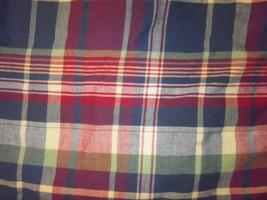 "Ralph Lauren Garrison Plaid Blue Red Yellow Green Full Bedskirt Not Split 15"" - $46.39"