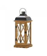 "Hayloft Large Wooden Candle Lantern - 22.5"" high with handle. - $44.85"