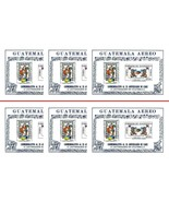 WHOLESALE-GUATEMALA'71 USA RELIEF deLUXE SC#C459a x6 MNH PRECOLUMBIAN IN... - €4,35 EUR