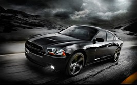 2012 DODGE CHARGER POSTER 24 x 36 INCH BLACK DARK ROAD - $18.99