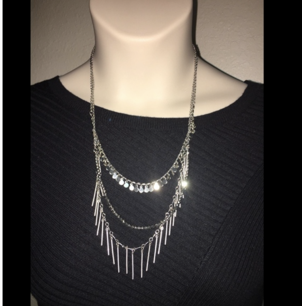 Primary image for Express Necklace Silver in color Womens NWT $39