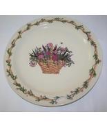 """Roseville Spongeware Henn Workshops Grandma Henn's Flower Basket 12"""" Cha... - $20.00"""