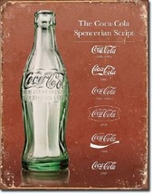Coca Cola Coke Advertising Script Heritage Retro Wall Art Decor Metal Ti... - $15.99