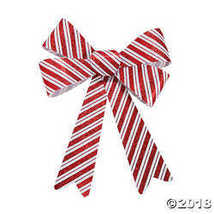 Christmas Striped Glitter Bows - $9.00